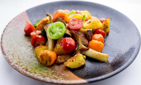 sauteed: Sauteed vegetables and mushrooms