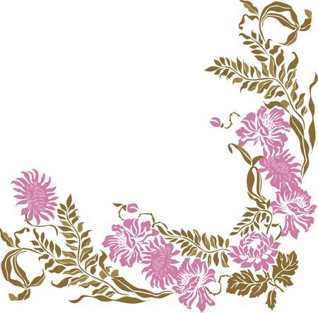 Floral Vintage frame element