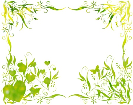 green leaves foliage at springtime graphic illustration illustration