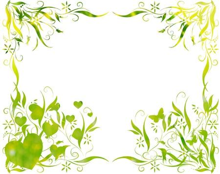 green leaves foliage at springtime graphic illustration illustration