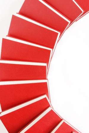 stack of red books isolated on white Stock Photo - 8952446