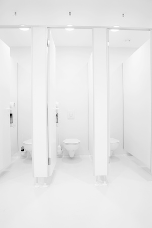 public toilet: a clean new public toilet room empty