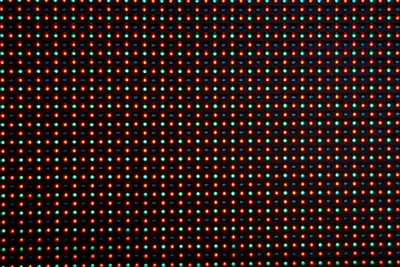 led lighting: Close-up of the Matrix of a Screen made of multiple LEDs....