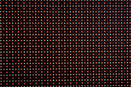 leds: Primer plano de la matriz de una pantalla hecha de m�ltiples LEDs ....