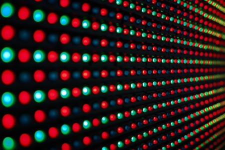 leds: Close-up of the Matrix of a Screen made of multiple LEDs....