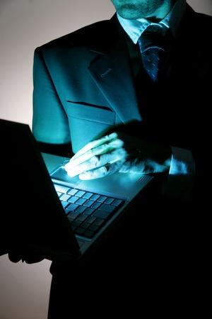 bedrijf zich bewust zijn van hacking en misdaad Stockfoto
