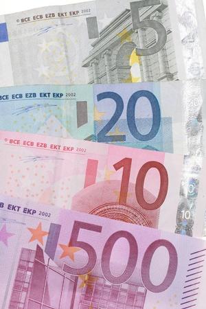 close-up of Euro Money on white...........