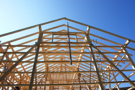 rafter: close-up of a building under construction....