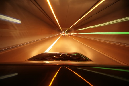 Car driving through a tunnel.... Stock Photo - 11092794