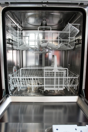 new dishwasher in a kitchen.... Stock Photo