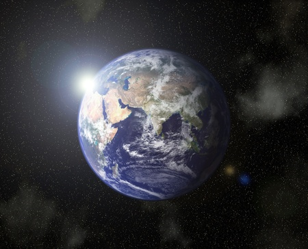 Close-up van de moeder aarde Stockfoto
