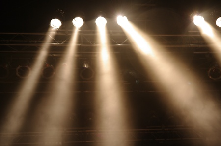 Disco lights at a big pop concert Stock Photo