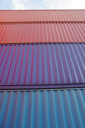 containers in a container terminal photo