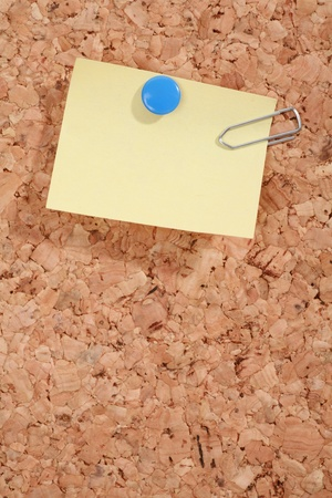 a pinboard with thumtacks on it........... Stock Photo - 11139151