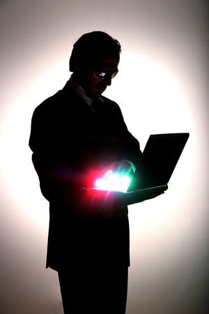 business be aware of hacking and crime photo