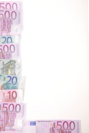 close-up of Euro Money on white........... Stock Photo - 11214085