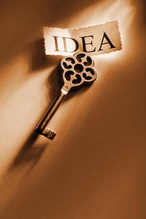 The Key to the idea Stock Photo - 12785855