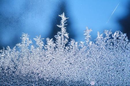 つらら: 霜 (霜の背景) のウィンドウで作られたパターン