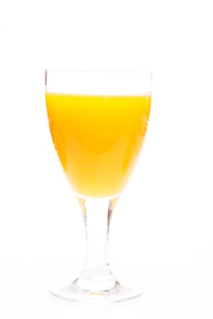 Glass of Orange juice on white background Stock Photo - 14287084