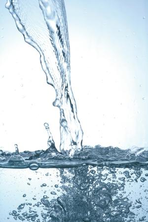 to watersplash: pouring water  fresh watersplash