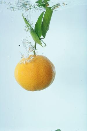 to watersplash: orange watersplash Stock Photo