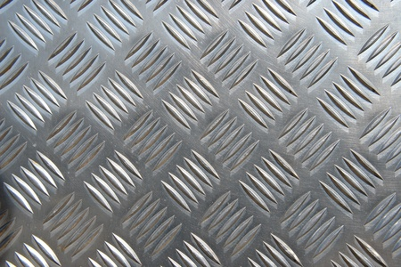checkerplate: detail of a metal surface