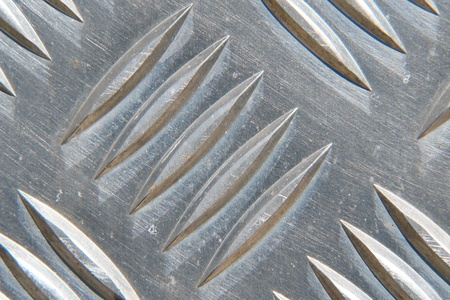 checker plate: detail of a metal surface
