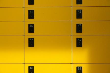 yellow lockboxes