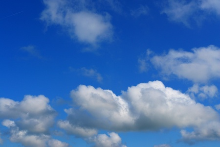 climatology: beautiful clouds on a sunny day in summer Stock Photo