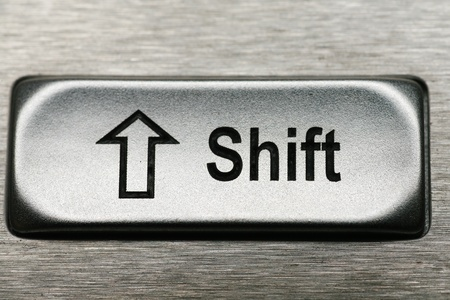 keys of a metal keyboard, shallow depth of field Stock Photo - 14360652