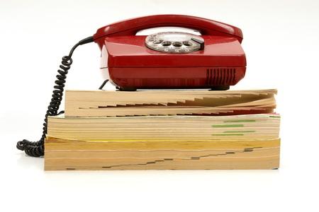 retro telefon i książki telefonicznej ............ Zdjęcie Seryjne
