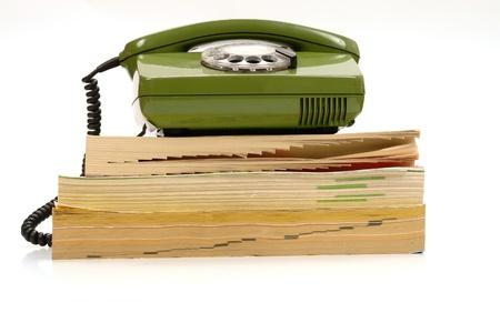 retro telefonu oraz książki telefonicznej ............