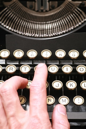 a typewriter in dramatic lighting. Stock Photo - 14346553