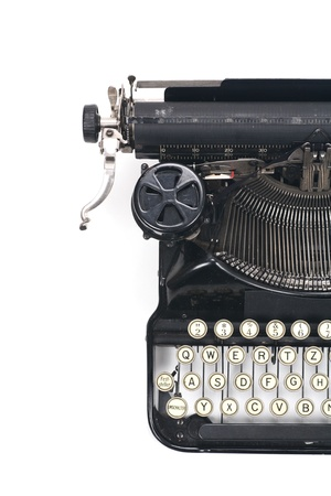 typewriter on white typing type writing write photo
