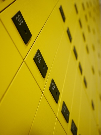 yellow private mail boxes at a post office in Croatia Stock Photo - 15975135