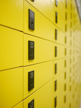 yellow private mail boxes at a post office in Croatia Stock Photo - 15975118
