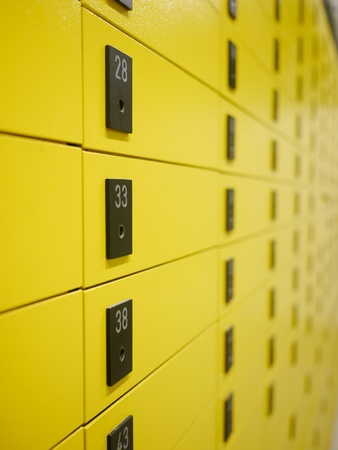 yellow private mail boxes at a post office in Croatia Stock Photo - 15975168