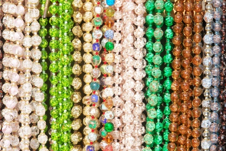 gold souk: closeup of colorful bracelets