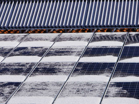 solar heat roof winter Stock Photo - 16585147