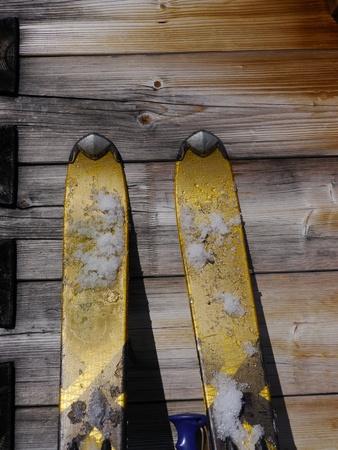 dec: wood ski snow
