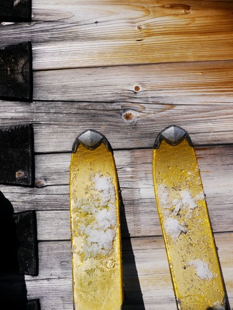 wood ski snow