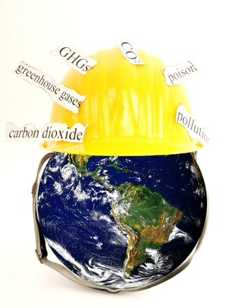 globalwarming: Close-up of a globe showing the globalwarming Stock Photo