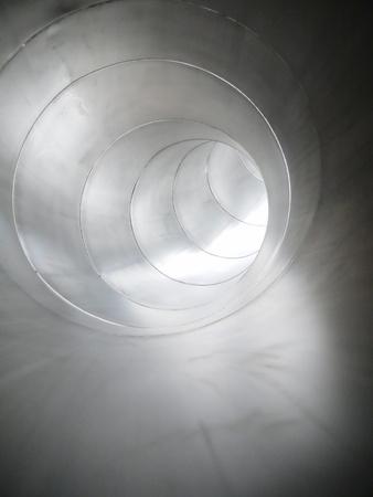 deteriorate: Metal tube  industrial background metal shining tube
