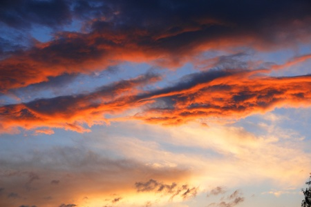 climatology: storm, bad weather clouds at sunset.