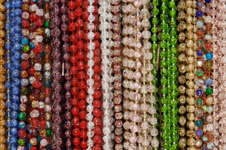 gold souk: closeup of colorful bracelets  Stock Photo