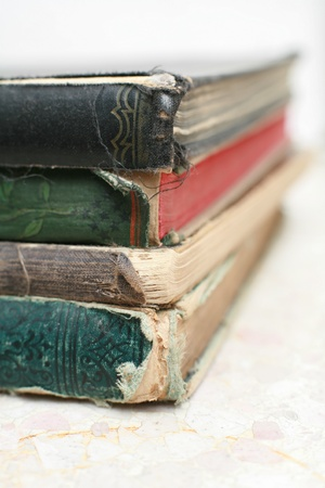 close-up of a stack of old books, very shallow DOF  Stock Photo - 17987060