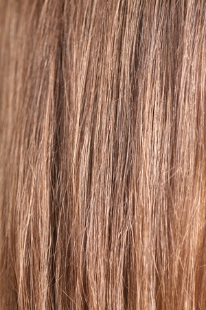 tousled: close-up of hair struc ture