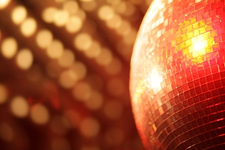 mirror ball lights disco background photo