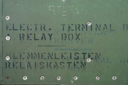 Detail of an old grungy military aircraft  NO COPYRIGHT ISSUE     ONLY INSTRUCTIONS IN ENGLISH AND GERMAN     photo