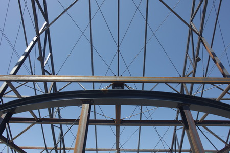 steelwork: Steel framework under construction suitable as background Stock Photo